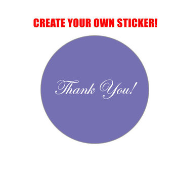 Thank You Sticker - Personalized Thank You Sticker - Customized Thank You Sticker