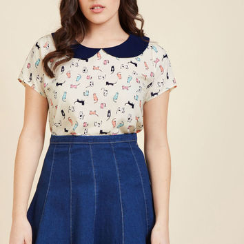 Collar Outside the Lines Top