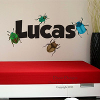 Bugs Boys Name Wall Decal