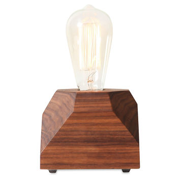 Gem Pedestal Lamp, Walnut, Torchieres