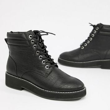 ASOS DESIGN Aim Lace Up Boots at asos.com