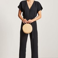 Surplice Wide-Leg Jumpsuit