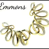 Emmons Gold & Silver Earrings, Large Swirl Ear Climbers, Maid of Honor Prom Jewelry, Graduation Gift, Mothers Day Gift For Her Mom