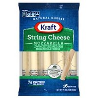 Kraft Low Moisture Part-Skim Mozzarella String Cheese - 16 oz