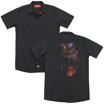 ac NOOW2 Batman - Batman & Robin #1 (Back Print) Adult Work Shirt