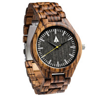 All Wood Watch // All Zebrawood Noir Gold