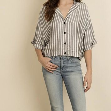 Slouchy Button Down Blouse