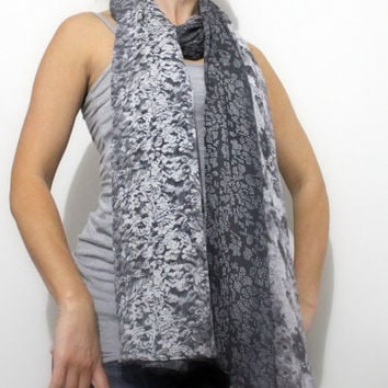 Ladies scarf, extra large scarf, oversize scarf, wrap, georgette scarf
