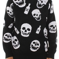 Men's Tipsy Skulls Sweater