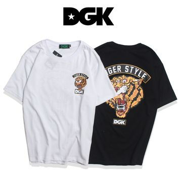 DGK Woman Men Fashion Tiger Tunic Shirt Top Blouse