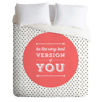 Allyson Johnson Be The Best Version Of You Duvet Cover
