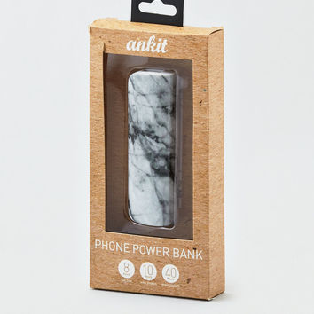 Ankit Marble Portable Charger, White