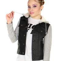 FROM THE HOOD LEATHER JACKET
