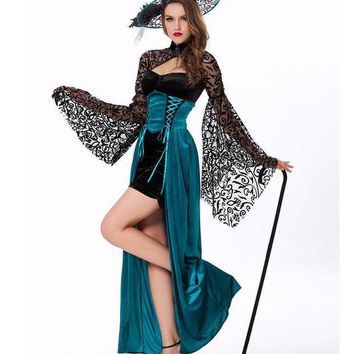 ICIKHY9 MOONIGHT Sexy Witch Costume Deluxe Adult Womens Magic Moment Costume Adult Witch Halloween Fancy Dress