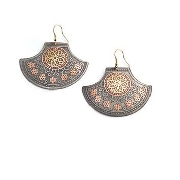 Embossed India Motif Earrings
