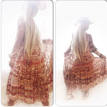Sheer Boho Sundress, bohemian Dress, True Rebel Clothing