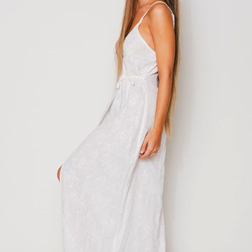 Flynn Skye Wrap Around Dress in White Doodle