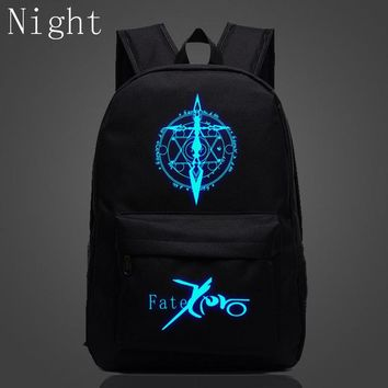 Japanese Anime Bag 2017 New Fashion  Fate Stay Night School Bags For Teenagers Luminous Daily Backpacks Casual Travel Bags Cartoon Fans Bags AT_59_4