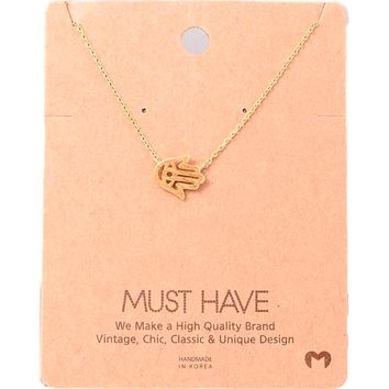 Must Have-Hamsa Pendant Necklace, Gold