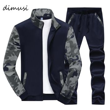 DIMUSI Spring Men Sportwear Sets Tracksuit Male Outwear Sweatshirts Patchwork Men Hoodies Stand Collar Male Tracksuit 4XL,TA046