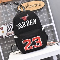Hot Sale Jordan 23 Men Backpacks Fashion Star bags Canvas Schoolbags for Teenager Boys Best Gift for Jordan Fans