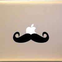 Western Moustache Macbook Decal Vinyl Sticker for by AllVinyldUp