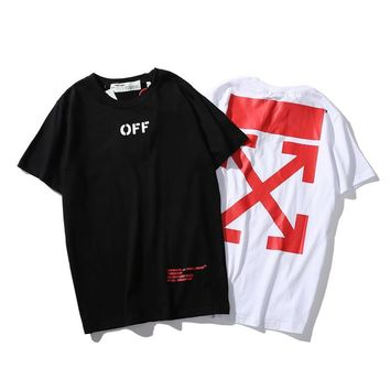 Couple Classics Round-neck Short Sleeve Unisex T-shirts Bottoming Shirt [1319141474388]