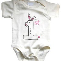 Baby's First Easter Organic Onesuit - 3-6m