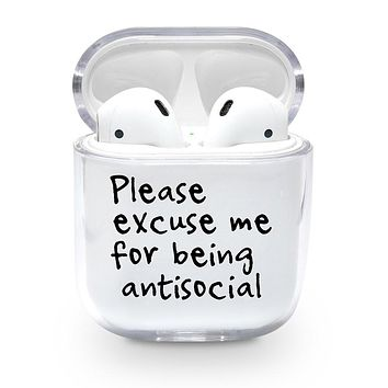 Please Excuse Me Airpods Case