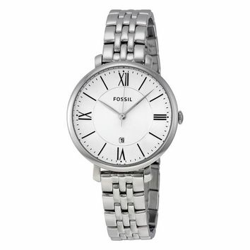 Fossil Womens ES3433 Silver Tone Roman Numeral Watch