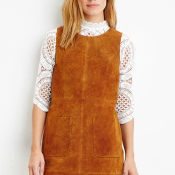 Contemporary Genuine Suede Shift Dress