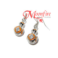 STAR WARS BB-8 Silver and Orange Earrings