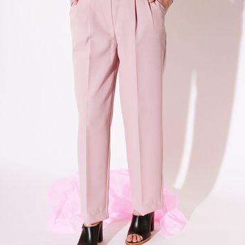 Lavender Pleated Trousers / M 29 Inch Waist.