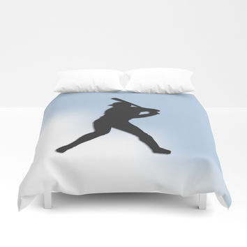 Batter Up Baseball Duvet Cover by Leatherwood Design