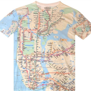 "MTA Subway T- Shirt ""NYC SUBWAY LINE"""