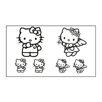 Free shipping Waterproof Temporary Tattoo Sticker 10.5*6 cm hello kitty cat  Flash tattoos for men girl boy