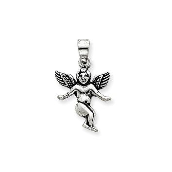 Sterling Silver Antique Angel Charm