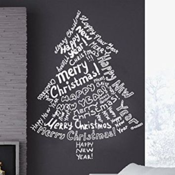 Wall Decals Merry Christmas Christmas Tree Christmas Decoration Decal Vinyl Sticker Home Art Bedroom Home Decor Living Room Art Murals MS686