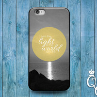 iPhone 4 4s 5 5s 5c 6 6s plus iPod Touch 4th 5th 6th Generation Cute Bible Christian Phrase Quote I am the Light Jesus Phone Cover God Case