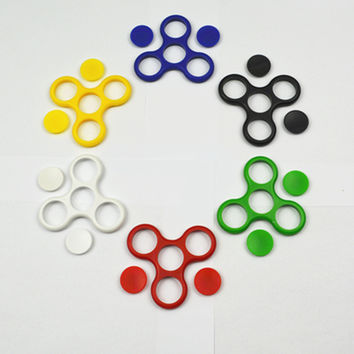 Hot sale Tri-Spinner Fidget EDC Fidget Spinner For Rotation Time Long Hybrid eramic Bearing Anti Stress Keep Hands Busy