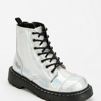 T.U.K. Iridescent Combat Boot - Urban Outfitters