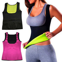 2016 New Women Hot Neoprene Body Shaper Slimming Waist Slim Belt Vest Top Tanks Camis