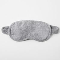 Cotton Pile Eye Mask Heather Gray