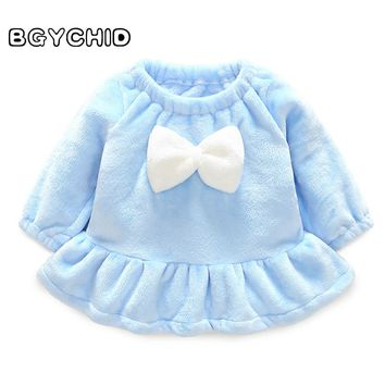 BGYCHID 2018 Baby Girl Spring Autumn Faux Wool Soft Coats for Toddlers Cute Clothing for Infants Clothes