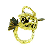 Monserat De Lucca – Pisces Brass Ring In Gold | Thirteen Vintage