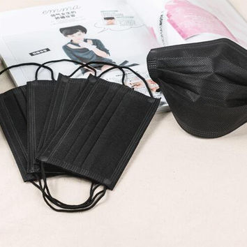 Anti-fog and haze activated carbon masks disposable masks Black thin section breathable dust-proof anti-bacteria pm2.5