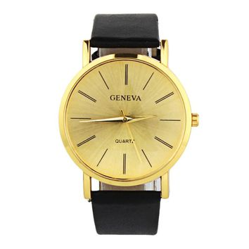 Geneva Watch Gold Watches Trade Fashion Casual Dignified Simple Table