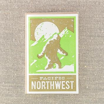Pacific Northwest Sasquatch Card