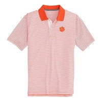 Clemson Tigers Pique Striped Polo Shirt by Southern Tide