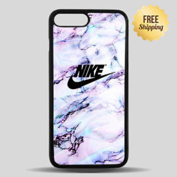 White Marble Nike Logo Case For iPhone 7 And iPhone 7 Plus Hard Plastic